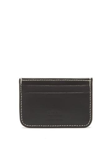 Matchesfashion.com Ami - Logo-debossed Leather Cardholder - Mens - Black