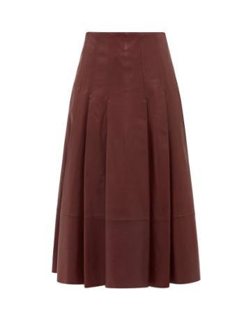 Matchesfashion.com Sportmax - Donata Skirt - Womens - Burgundy