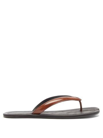 Matchesfashion.com Maison Margiela - Tabi Split-toe Leather Flip Flops - Mens - Tan