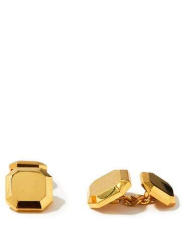Matchesfashion.com Shay - Faceted 18kt Gold Cufflinks - Mens - Gold