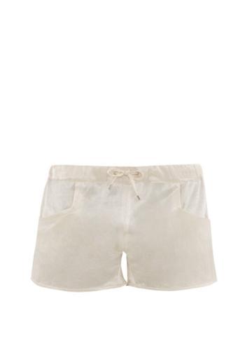 Matchesfashion.com Ludovic De Saint Sernin - High Cut Satin Shorts - Mens - White