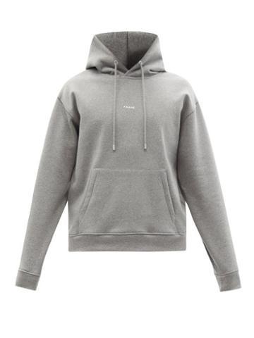 Matchesfashion.com Frame - Logo-print Oversized Jersey Hooded Sweatshirt - Mens - Grey