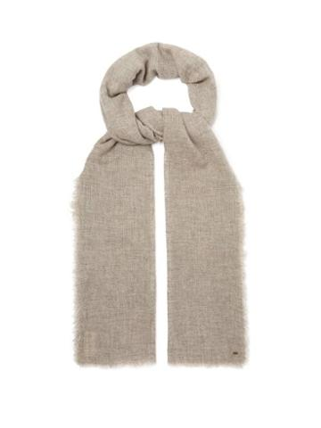 Matchesfashion.com From The Road - Pari Wool Blend Scarf - Mens - Grey