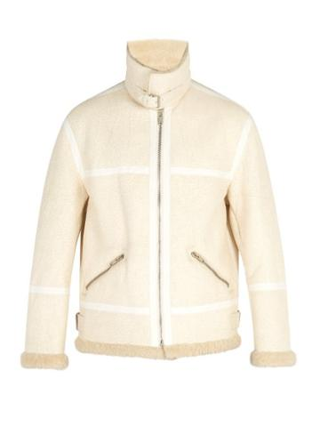 Matchesfashion.com Givenchy - Distressed Shearling Coat - Mens - Cream