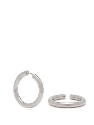 Alan Crocetti Sterling Silver Earring And Cuff Set