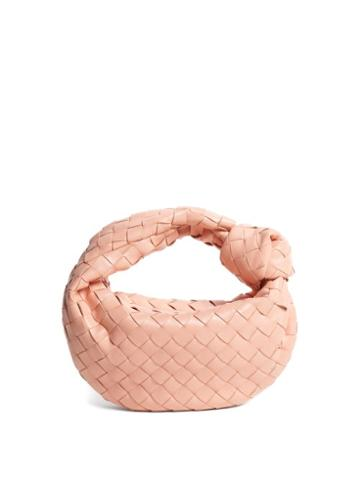 Matchesfashion.com Bottega Veneta - The Jodie Mini Intrecciato Leather Clutch - Womens - Light Pink