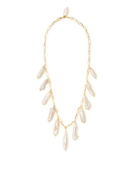 Matchesfashion.com Timeless Pearly - Baroque Pearl Drop Necklace - Womens - Pink