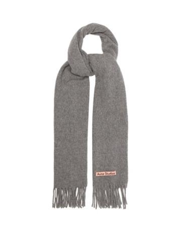 Acne Studios - Canada New Fringed Wool Scarf - Womens - Grey