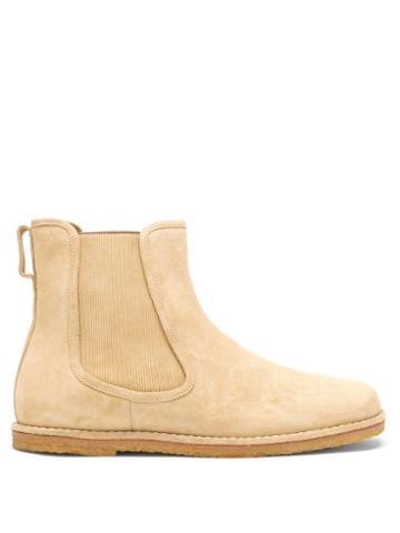 Matchesfashion.com Loewe - Suede Chelsea Boots - Mens - Gold