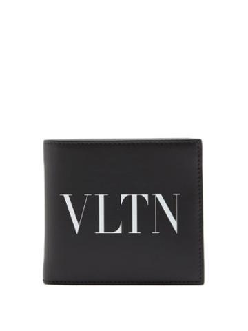 Matchesfashion.com Valentino Garavani - Logo-print Leather Bi-fold Wallet - Mens - Black