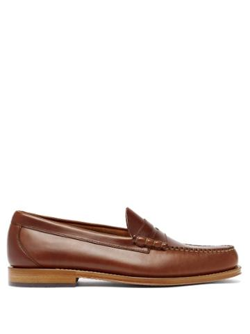 Matchesfashion.com G.h. Bass & Co. - Weejuns Larson Leather Penny Loafers - Mens - Dark Brown