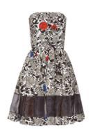 Sophie Theallet Lindsay Floral-print Strapless Dress