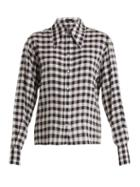 Matchesfashion.com Joseph - Charlie Gingham Shirt - Womens - Navy White