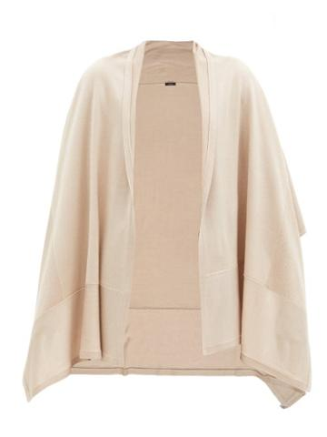 Matchesfashion.com Joseph - Wraparound Wool-blend Scarf - Womens - Beige