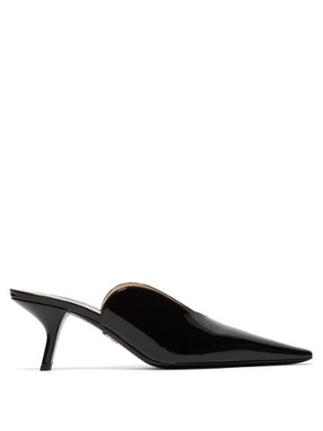Matchesfashion.com Prada - Inverted Patent Leather Mules - Womens - Black