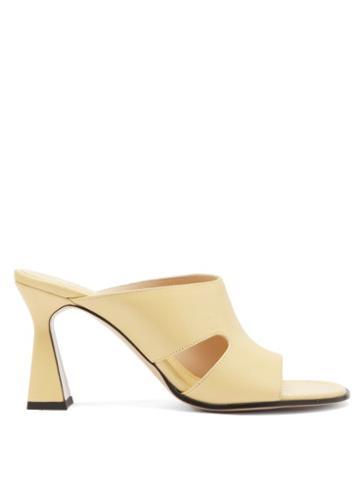 Matchesfashion.com Wandler - Marie Cutout Leather Mules - Womens - Yellow