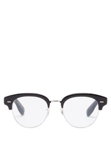 Oliver Peoples - D-frame Acetate And Metal Glasses - Mens - Black