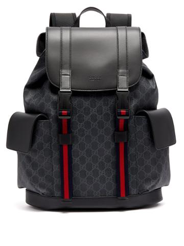 Gucci Gg Supreme Canvas And Leather Backpack