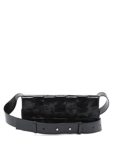 Matchesfashion.com Bottega Veneta - Cassette Mini Intrecciato-leather Cross-body Bag - Mens - Black Silver