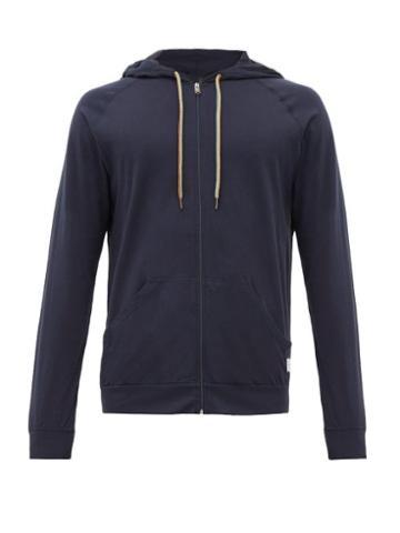 Matchesfashion.com Paul Smith - Zip Through Hooded Cotton Sweatshirt - Mens - Navy