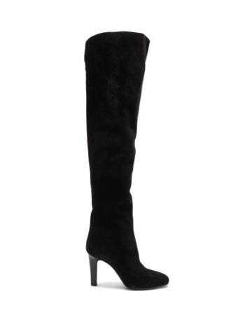 Matchesfashion.com Saint Laurent - Blu Over-the-knee Suede Boots - Womens - Black