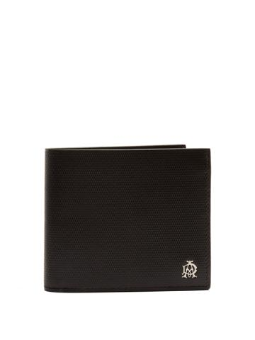 Dunhill Engine Turn Bi-fold Leather Wallet