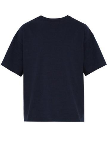 Matchesfashion.com Raey - Oversized Cotton Jersey T Shirt - Mens - Navy