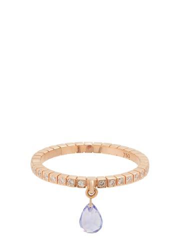 Diane Kordas Diamond, Tanzanite And Rose-gold Ring