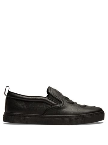 Gucci Dublin Snake-embossed Slip-on Leather Trainers