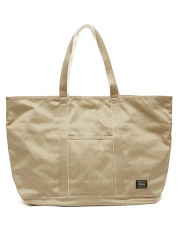 Matchesfashion.com Porter-yoshida & Co. - Weapon Large Cotton-canvas Tote Bag - Mens - Beige