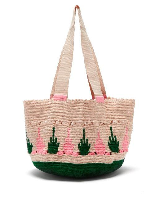 Matchesfashion.com Sophie Anderson - Hoyas Woven Tote Bag - Womens - Green Multi