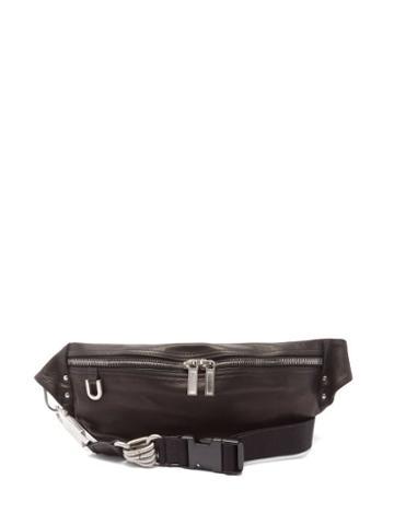 Rick Owens - Geo Logo-debossed Leather Belt Bag - Mens - Black