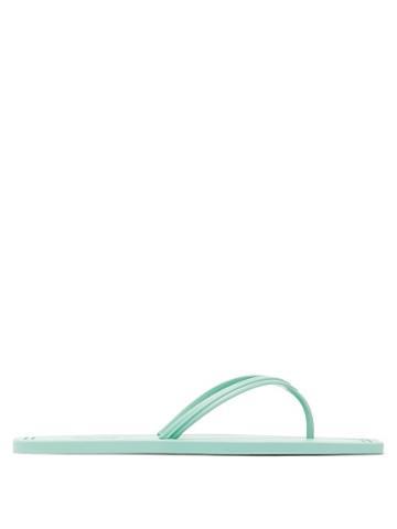 Matchesfashion.com Carlotha Ray - Square-toe Scented-rubber Flip Flops - Womens - Light Green