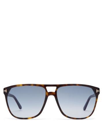 Matchesfashion.com Tom Ford Eyewear - Shelton Tortoiseshell Aviator Sunglasses - Mens - Tortoiseshell