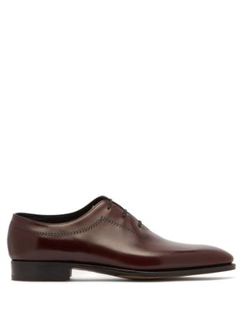 Matchesfashion.com John Lobb - Holt Leather Oxford Shoes - Mens - Burgundy