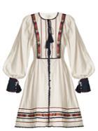 Talitha Athena Zoya-embroidered Cotton Dress