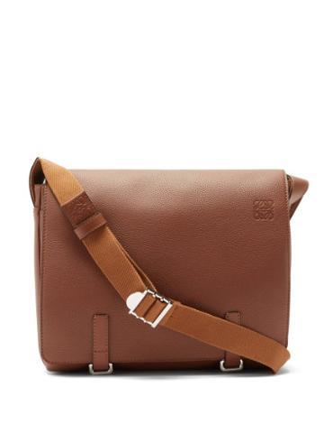 Matchesfashion.com Loewe - Military Leather Messenger Bag - Mens - Tan