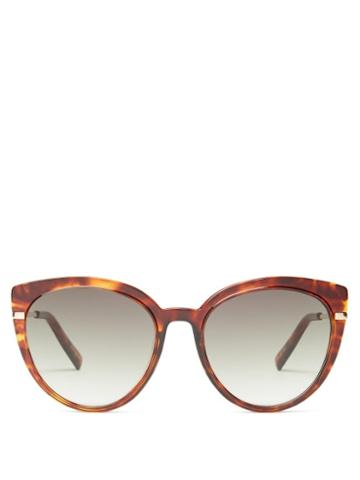 Matchesfashion.com Le Specs - Promiscuous Cat-eye Acetate Sunglasses - Womens - Tortoiseshell