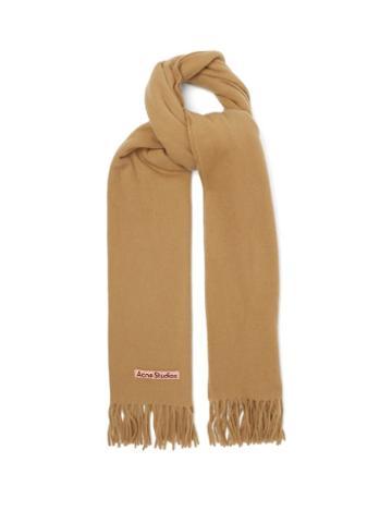 Acne Studios - Canada New Fringed Wool Scarf - Womens - Camel
