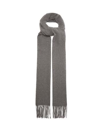 Matchesfashion.com Totme - Bova Extra-long Virgin-wool Scarf - Womens - Grey