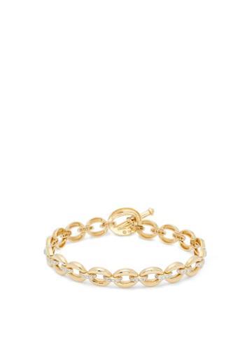 Matchesfashion.com Nadine Aysoy - Catena Diamond & 18kt Gold Bracelet - Womens - Yellow Gold