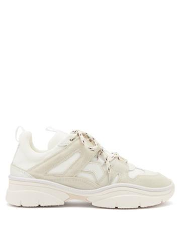 Matchesfashion.com Isabel Marant - Kindsay Suede And Mesh Trainers - Womens - White