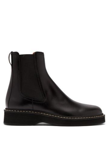 Matchesfashion.com Marni - Leather Chelsea Boots - Mens - Black