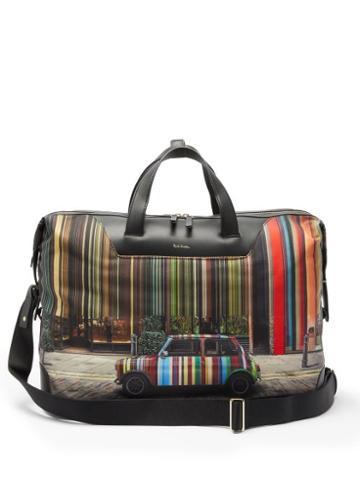 Matchesfashion.com Paul Smith - Signature-stripe Mini-print Canvas Holdall - Mens - Black Multi
