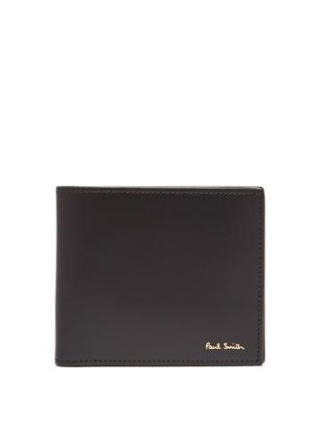 Matchesfashion.com Paul Smith - Signature Stripe Lined Leather Bi Fold Wallet - Mens - Black
