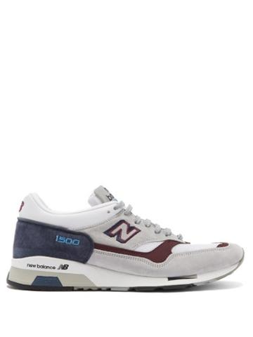 Matchesfashion.com New Balance - Made In Uk 1500 Leather And Mesh Trainers - Mens - Grey Multi