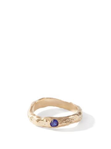 Matchesfashion.com Anita Berisha - September Birthstone & 14kt Gold-plated Ring - Womens - Blue