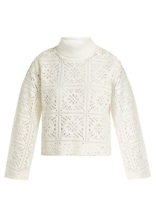 Matchesfashion.com See By Chlo - Cut Out Knit Sweater - Womens - White