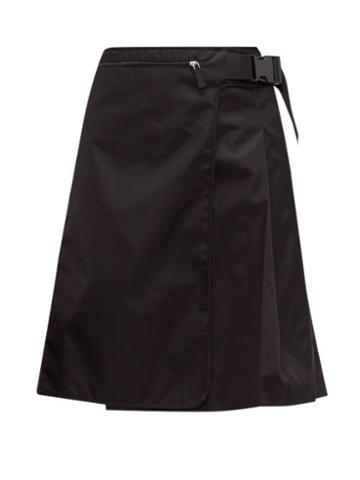 Matchesfashion.com Prada - Pleated Nylon Skirt - Womens - Black