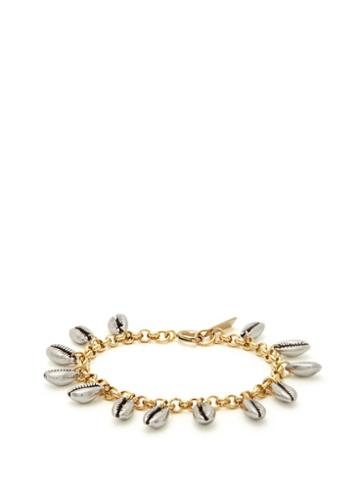 Matchesfashion.com Isabel Marant - Amer Shell Charm Chain Bracelet - Womens - Silver